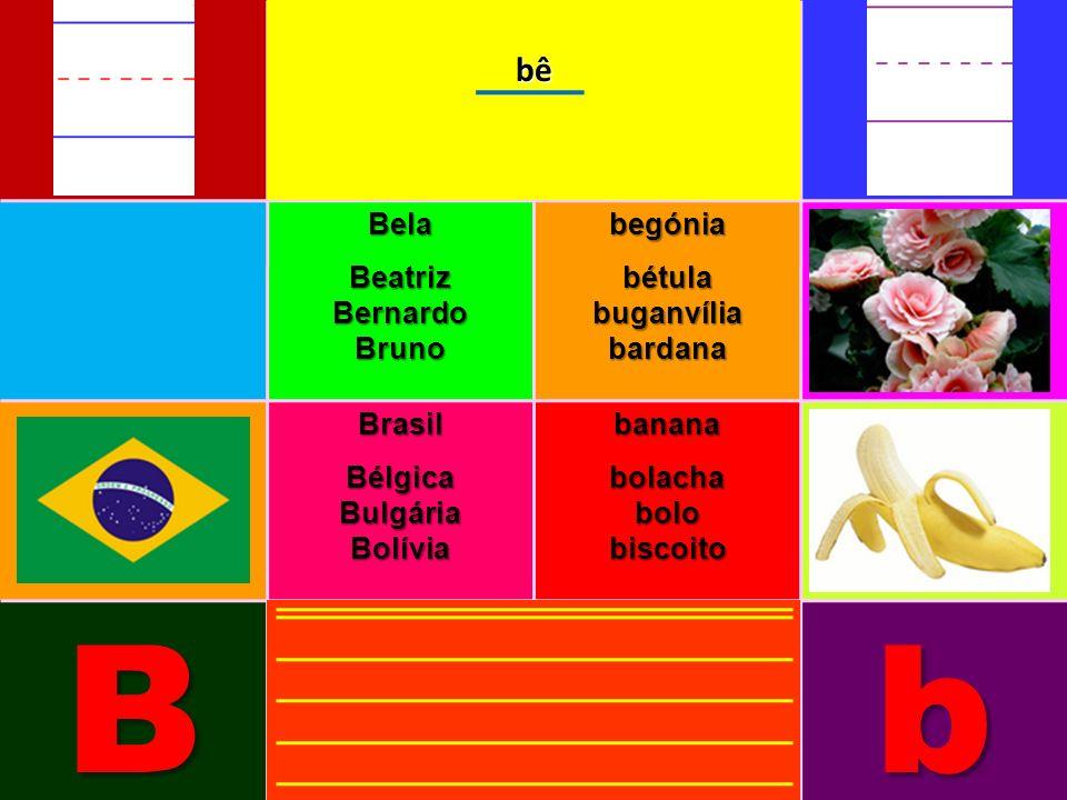 BelaBeatrizBernardoBrunobegóniabétulabuganvíliabardana BrasilBélgicaBulgáriaBolíviabananabolachabolobiscoito Bbbê