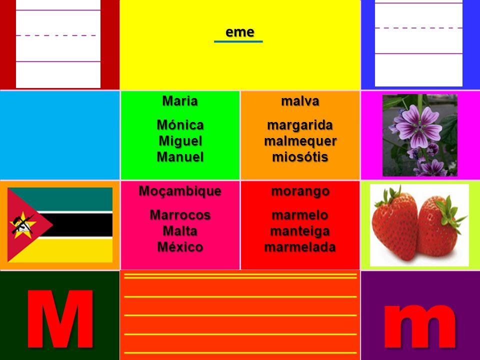 MariaMónicaMiguelManuelmalvamargaridamalmequermiosótis MoçambiqueMarrocosMaltaMéxicomorangomarmelomanteigamarmelada Mmeme