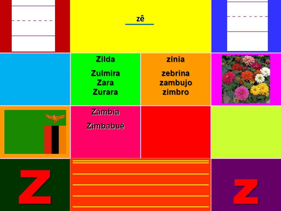 ZildaZulmiraZaraZurarazíniazebrinazambujozimbro ZâmbiaZimbabué Zzzê