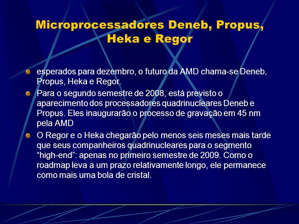 Microprocessadores Deneb, Propus, Heka e Regor esperados para dezembro, o futuro da AMD chama-se Deneb, Propus, Heka e Regor.