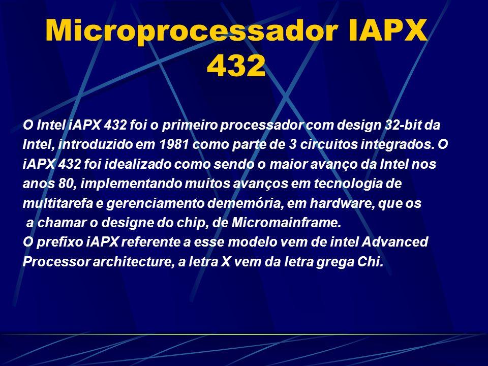 O Intel iAPX 432 foi o primeiro processador com design 32-bit da Intel, introduzido em 1981 como parte de 3 circuitos integrados.
