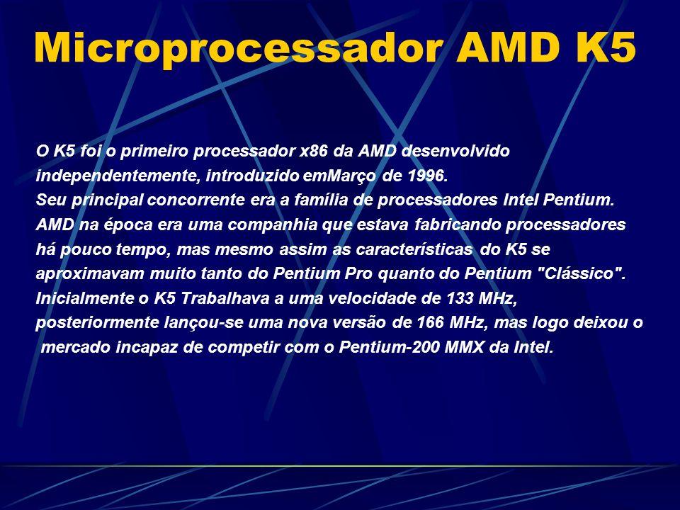 O K5 foi o primeiro processador x86 da AMD desenvolvido independentemente, introduzido emMarço de 1996.