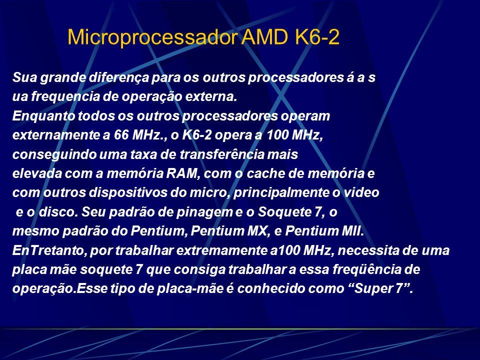 Sua grande diferença para os outros processadores á a s ua frequencia de operação externa.