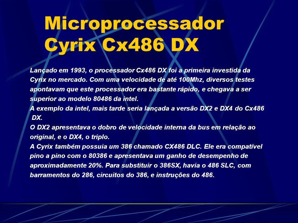 Lançado em 1993, o processador Cx486 DX foi a primeira investida da Cyrix no mercado.