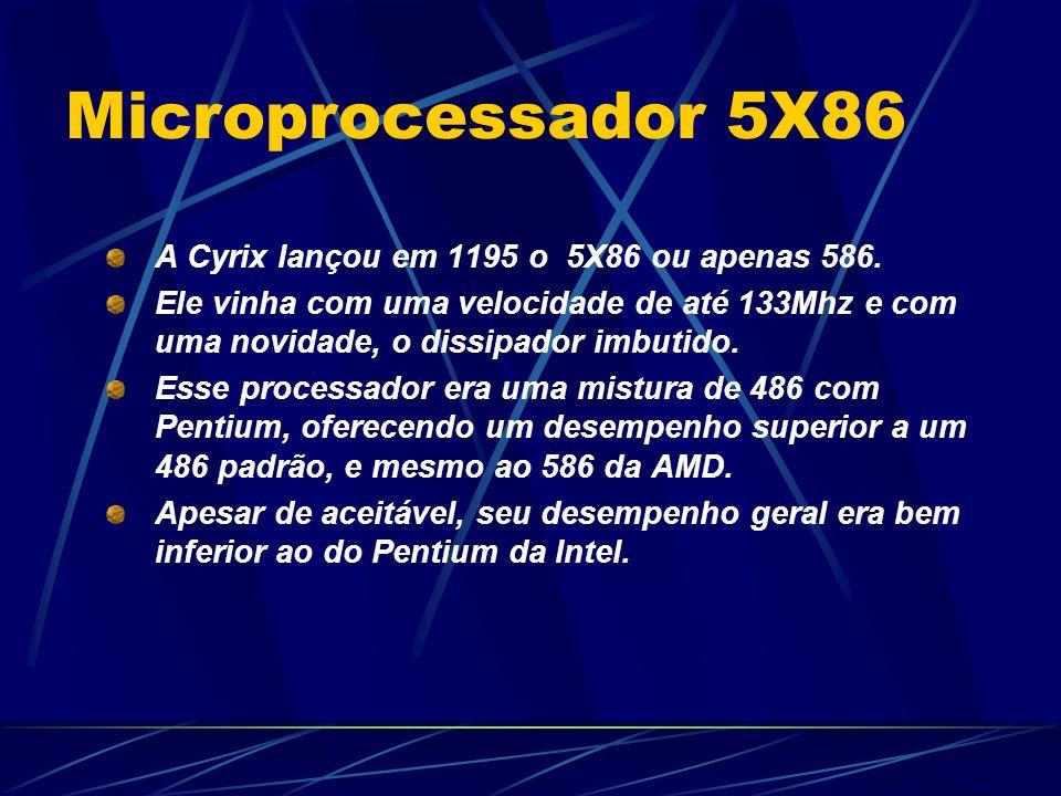 A Cyrix lançou em 1195 o 5X86 ou apenas 586.
