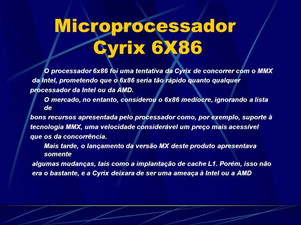 O processador 6x86 foi uma tentativa da Cyrix de concorrer com o MMX da Intel, prometendo que o 6x86 seria tão rápido quanto qualquer processador da Intel ou da AMD.