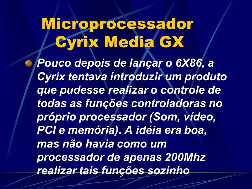 Pouco depois de lançar o 6X86, a Cyrix tentava introduzir um produto que pudesse realizar o controle de todas as funções controladoras no próprio processador (Som, vídeo, PCI e memória).