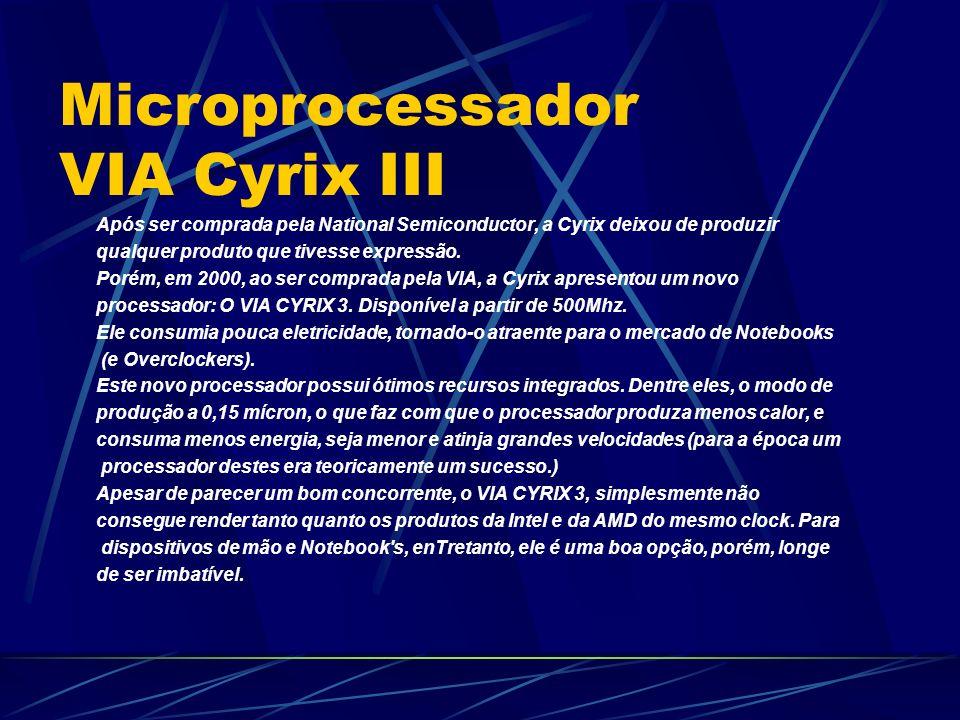 Após ser comprada pela National Semiconductor, a Cyrix deixou de produzir qualquer produto que tivesse expressão.