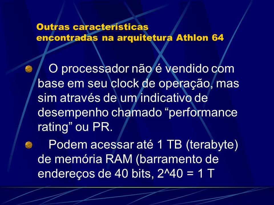 O processador não é vendido com base em seu clock de operação, mas sim através de um indicativo de desempenho chamado performance rating ou PR.