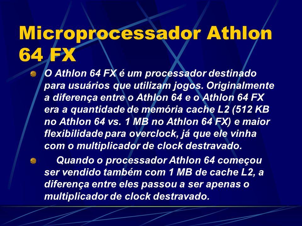 O Athlon 64 FX é um processador destinado para usuários que utilizam jogos.