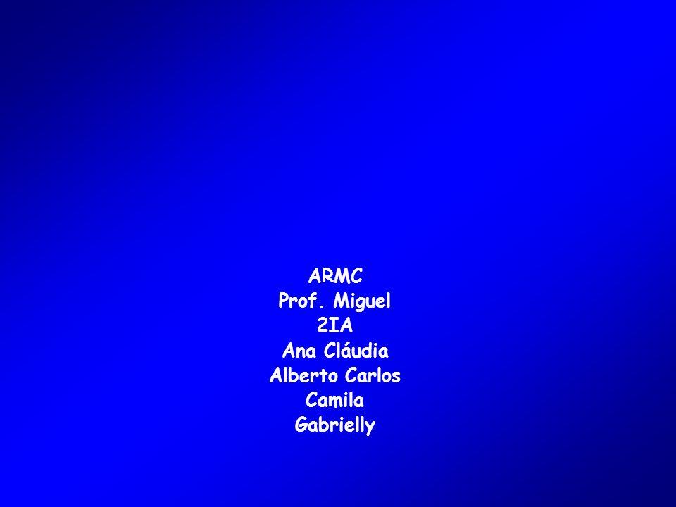 ARMC Prof. Miguel 2IA Ana Cláudia Alberto Carlos Camila Gabrielly