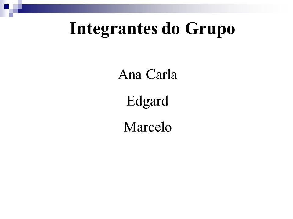 Integrantes do Grupo Ana Carla Edgard Marcelo