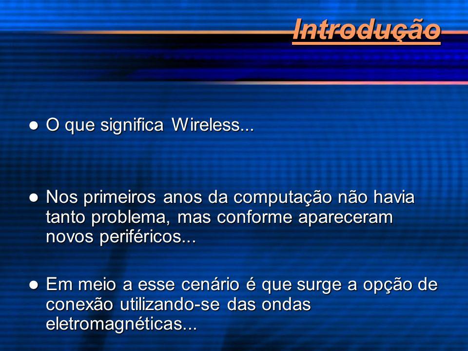 Introdução O que significa Wireless... O que significa Wireless... Nos primeiros anos da computação não havia tanto problema, mas conforme apareceram