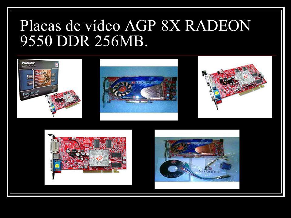 Placas de vídeo AGP 8X RADEON 9550 DDR 256MB.