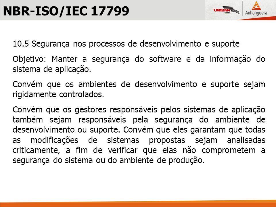Segundo a norma NBR-ISO/IEC 27002, capítulo 12 Aquisição, desenvolvimento e manutenção de sistemas de informação, a segurança na aquisição, no desenvolvimento e manutenção de sistemas onde podemos destacar os itens: 12.2 Processamento correto nas aplicações 12.2.1 Validação dos dados de entrada 12.2.2 Controle do processamento interno 12.3 Controles criptográficos 12.4 Segurança dos arquivos do sistema NBR-ISO/IEC 27002