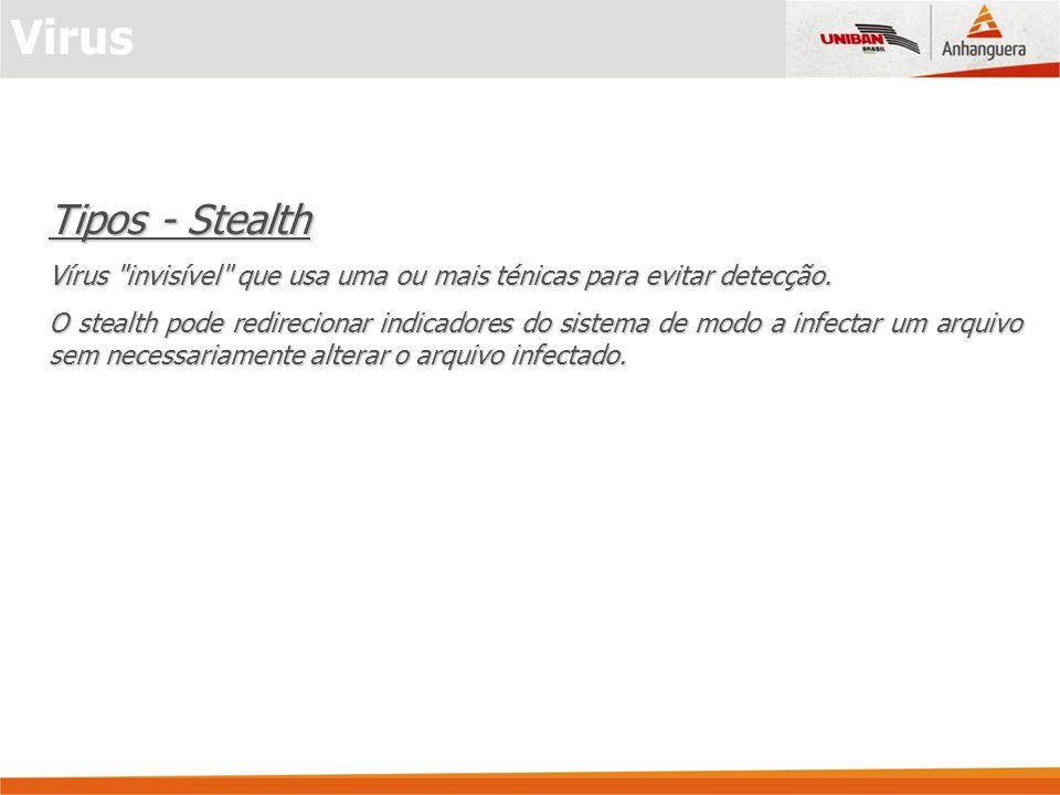 Tipos - Stealth Vírus