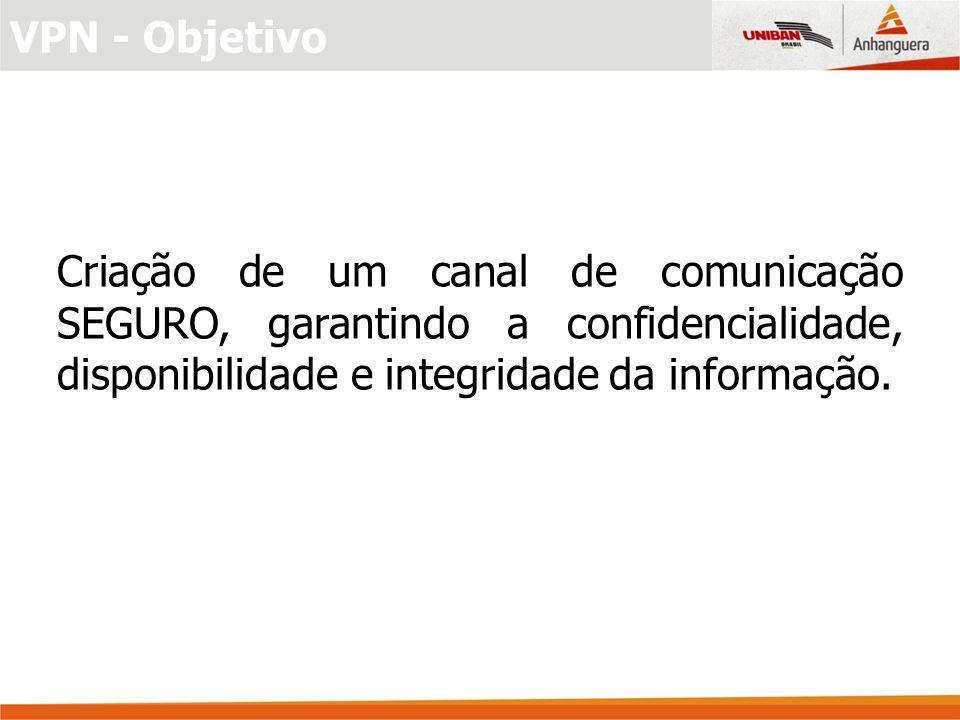 Criação de um canal de comunicação SEGURO, garantindo a confidencialidade, disponibilidade e integridade da informação.