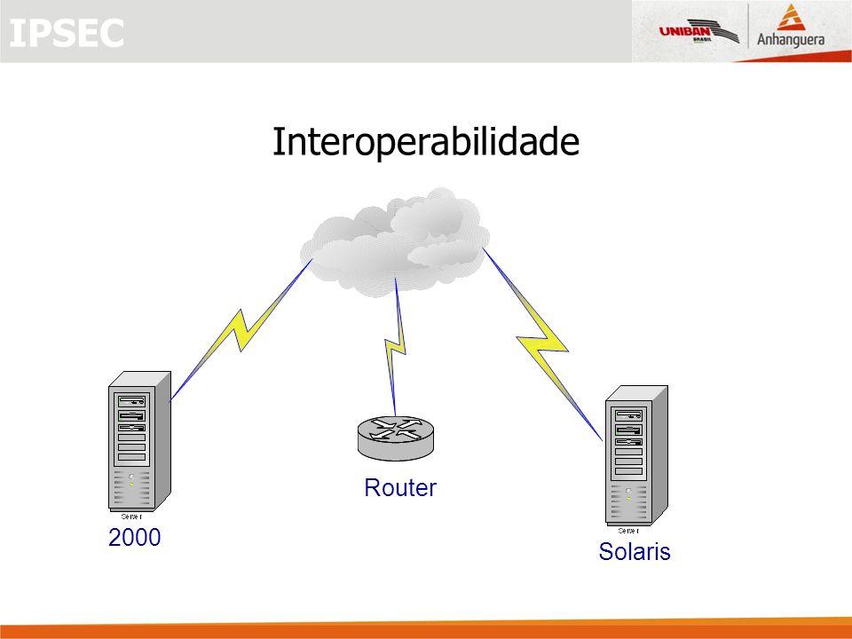 2000 Router Solaris Interoperabilidade IPSEC