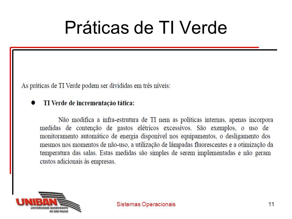 Sistemas Operacionais11 Práticas de TI Verde