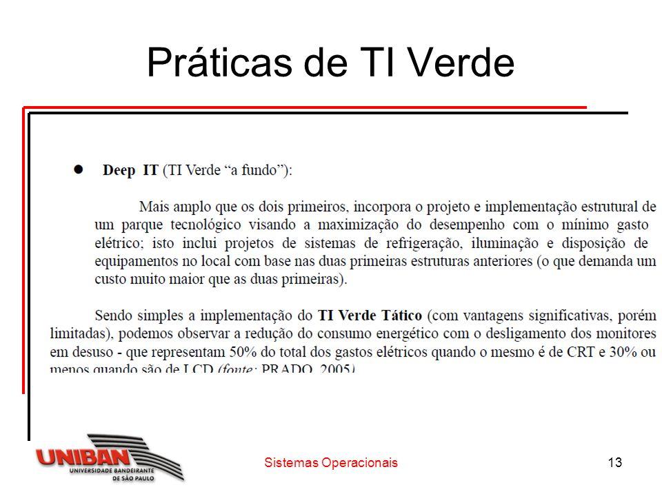 Sistemas Operacionais13 Práticas de TI Verde