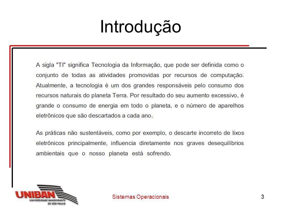 Sistemas Operacionais4 Introdução