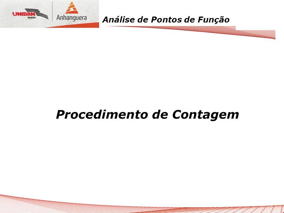 Análise de Pontos de Função Procedimento de Contagem