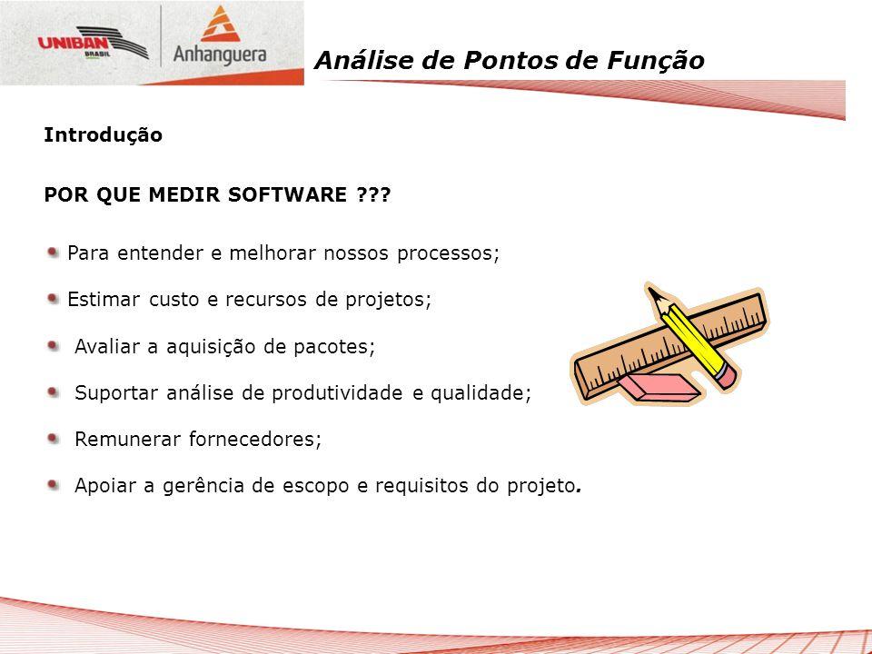 Análise de Pontos de Função Determinar o Fator de Ajuste O Fator de Ajuste (VAF) indica a funcionalidade geral fornecida ao usuário pela aplicação.