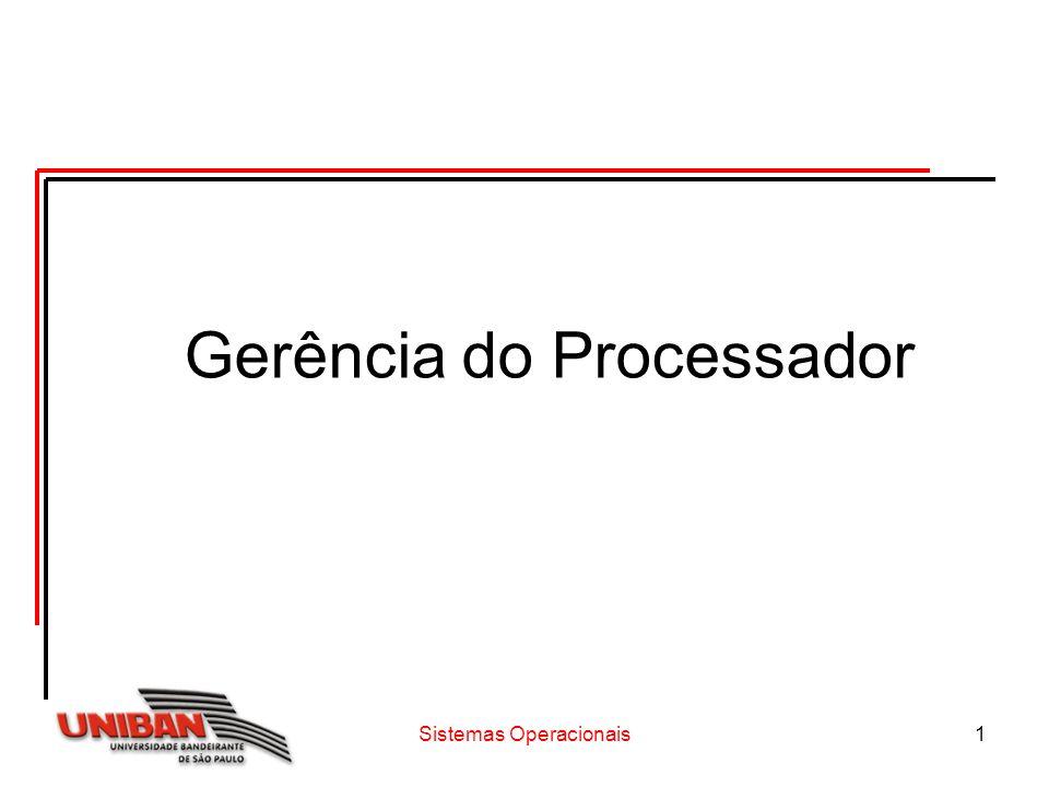 Sistemas Operacionais1 Gerência do Processador