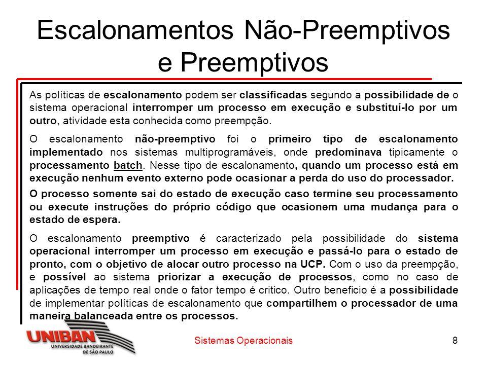 Sistemas Operacionais19 Exercícios 7) Assinale a alternativa que melhor conceitue Throughput dentro dos critérios de escalonamento.