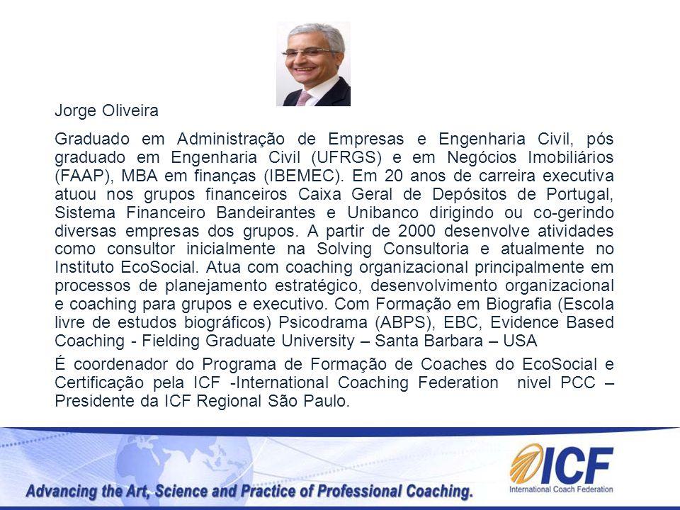 Jorge Oliveira Graduado em Administração de Empresas e Engenharia Civil, pós graduado em Engenharia Civil (UFRGS) e em Negócios Imobiliários (FAAP), M