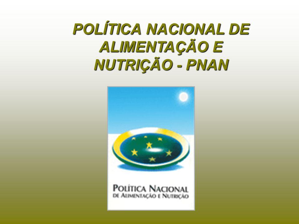 POLÍTICA NACIONAL DE ALIMENTAÇÃO E NUTRIÇÃO - PNAN