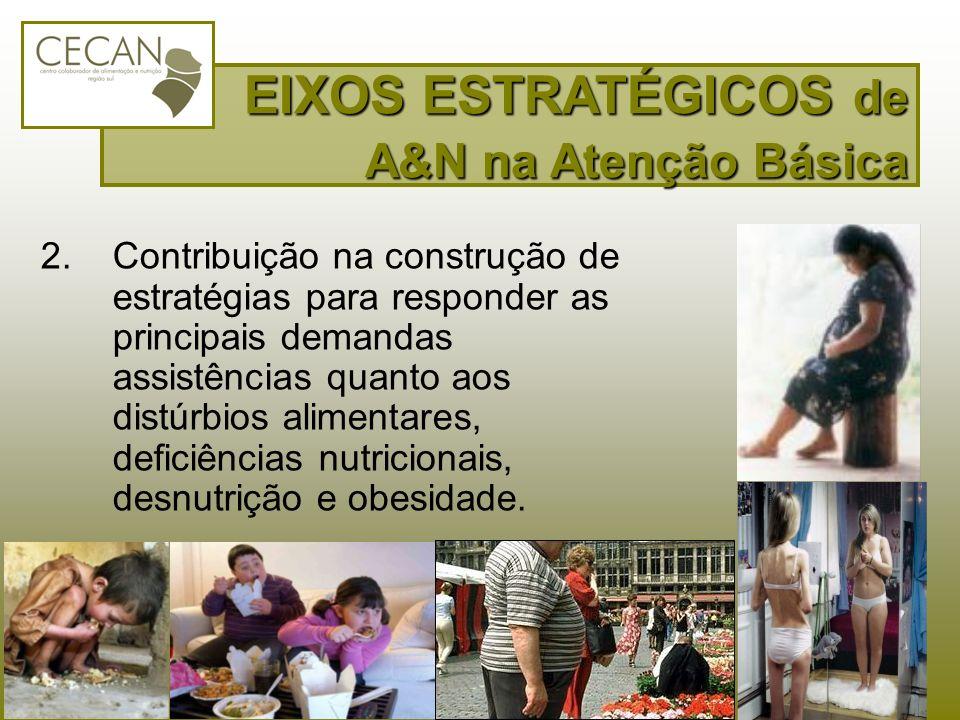 2.Contribuição na construção de estratégias para responder as principais demandas assistências quanto aos distúrbios alimentares, deficiências nutrici