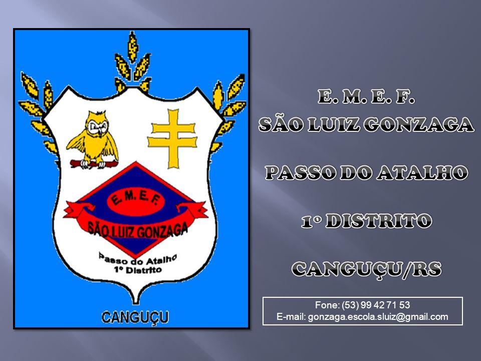 Fone: (53) 99 42 71 53 E-mail: gonzaga.escola.sluiz@gmail.com