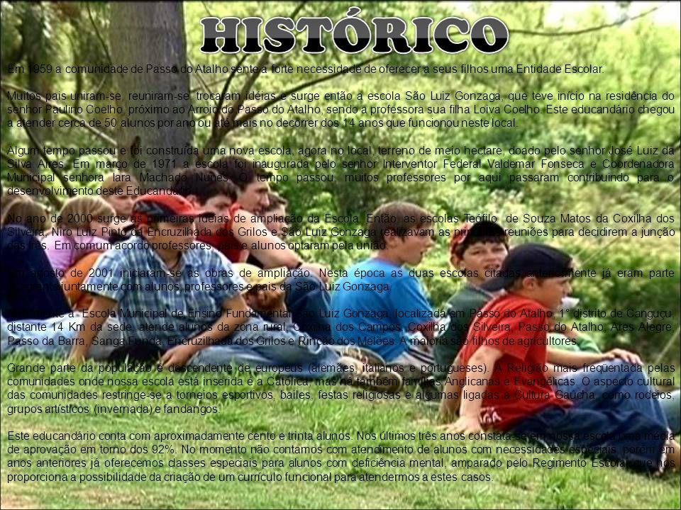 Em 1959 a comunidade de Passo do Atalho sente a forte necessidade de oferecer a seus filhos uma Entidade Escolar. Muitos pais uniram-se, reuniram-se,