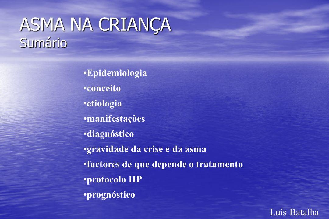 Luís Batalha ASMA NA CRIANÇA Bibliografia Barreto, Celeste - Asma bronquica na infancia.