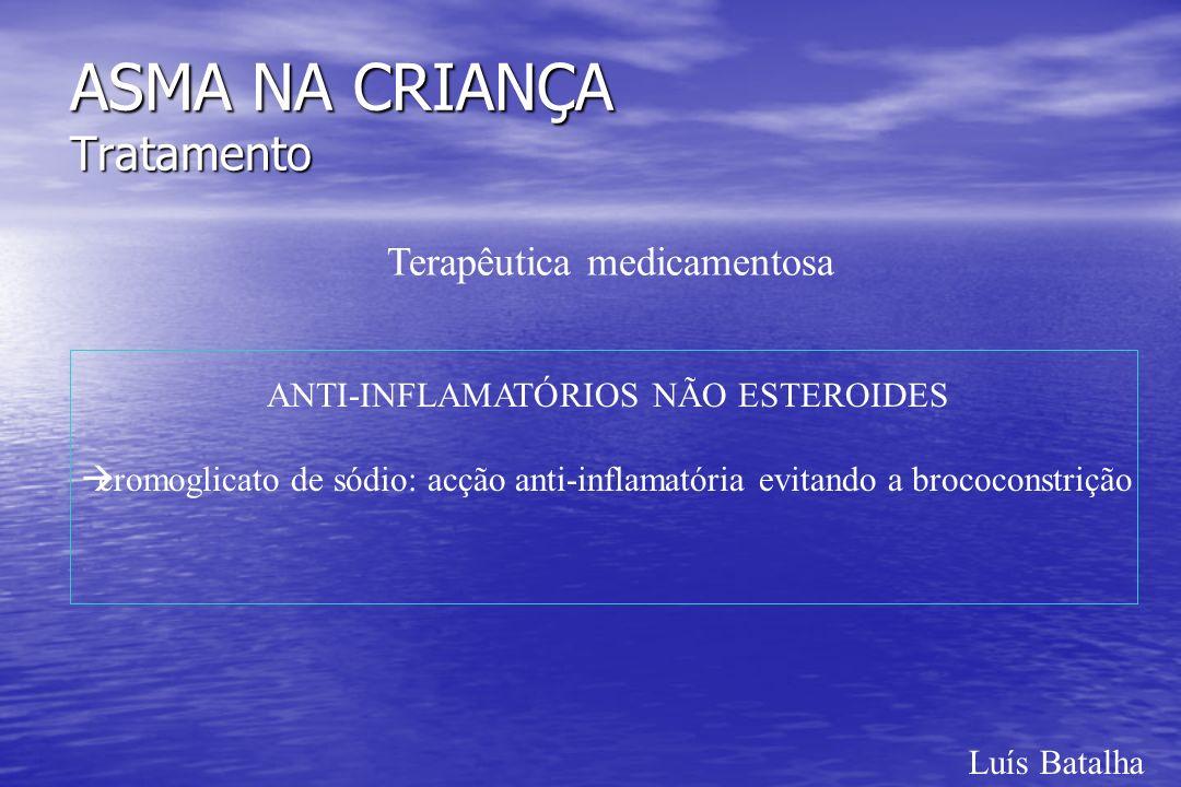 Luís Batalha ASMA NA CRIANÇA Tratamento Terapêutica medicamentosa ANTI-INFLAMATÓRIOS NÃO ESTEROIDES àcromoglicato de sódio: acção anti-inflamatória ev