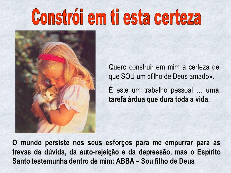 «Ser filho amado» é a identidade do cristão. Não pode ser simplesmente um belo pensamento. Deve tornar-se uma convicção profunda, fonte de amor, de pa