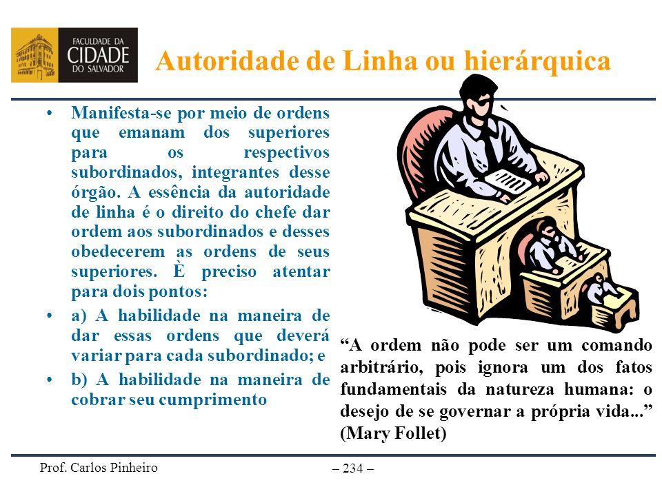 Prof. Carlos Pinheiro – 234 – Manifesta-se por meio de ordens que emanam dos superiores para os respectivos subordinados, integrantes desse órgão. A e