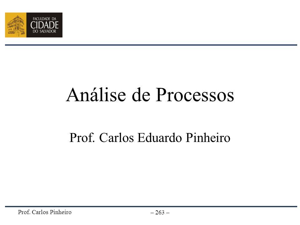 Prof. Carlos Pinheiro – 263 – Análise de Processos Prof. Carlos Eduardo Pinheiro