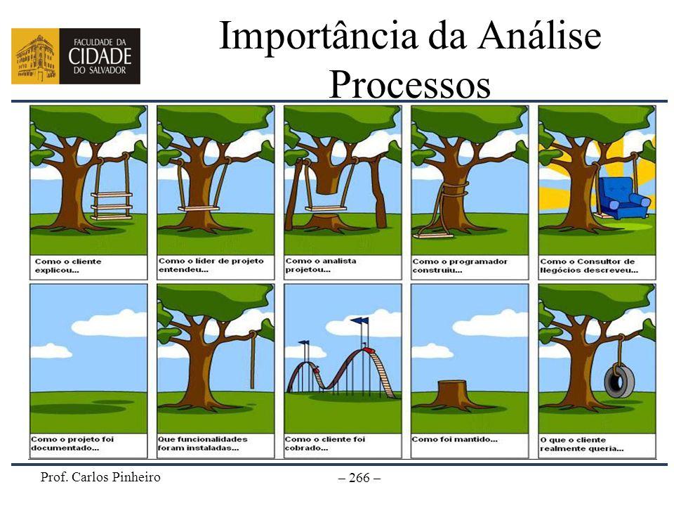 Prof. Carlos Pinheiro – 266 – Importância da Análise Processos