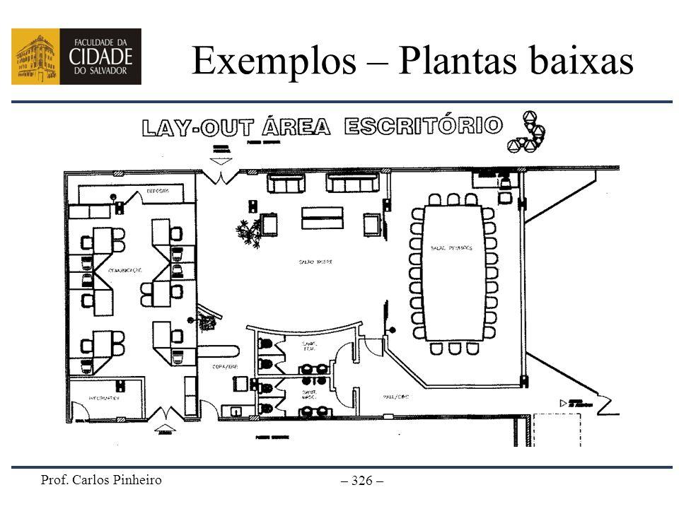 Prof. Carlos Pinheiro – 326 – Exemplos – Plantas baixas