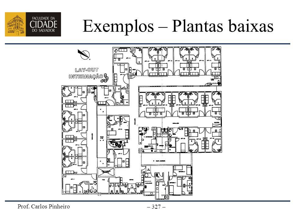 Prof. Carlos Pinheiro – 327 – Exemplos – Plantas baixas