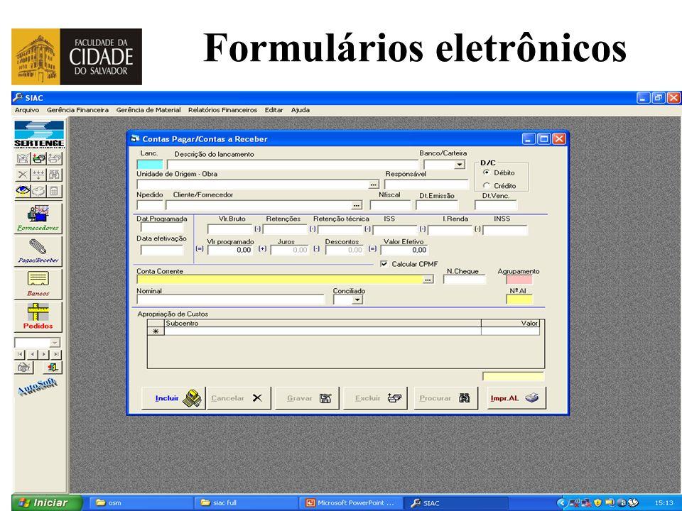 Prof. Carlos Pinheiro – 352 – Formulários eletrônicos