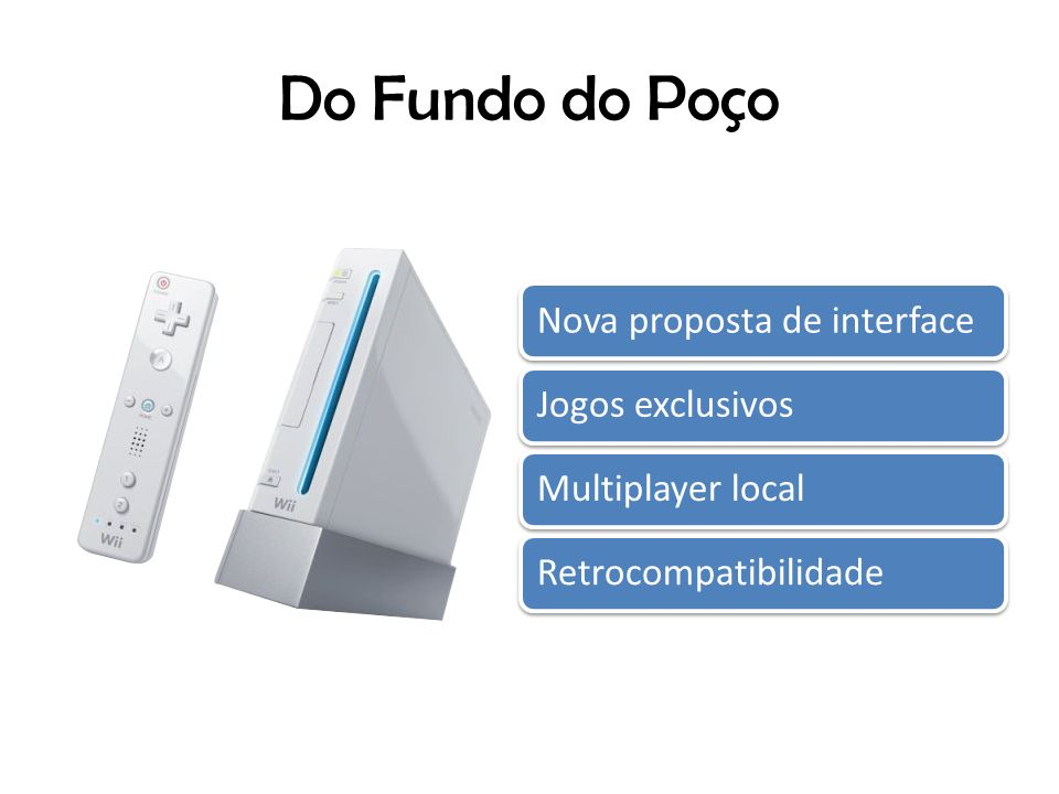 Do Fundo do Poço Nova proposta de interfaceJogos exclusivosMultiplayer localRetrocompatibilidade