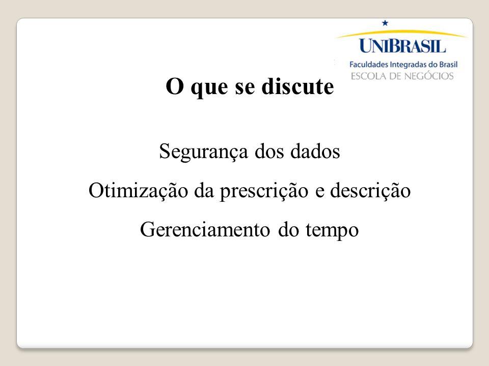 Situação Problematizadora Legibilidade Segurança da informação Controle de prescrições Histórico do paciente
