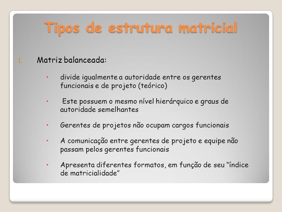 Tipos de estrutura matricial 1.