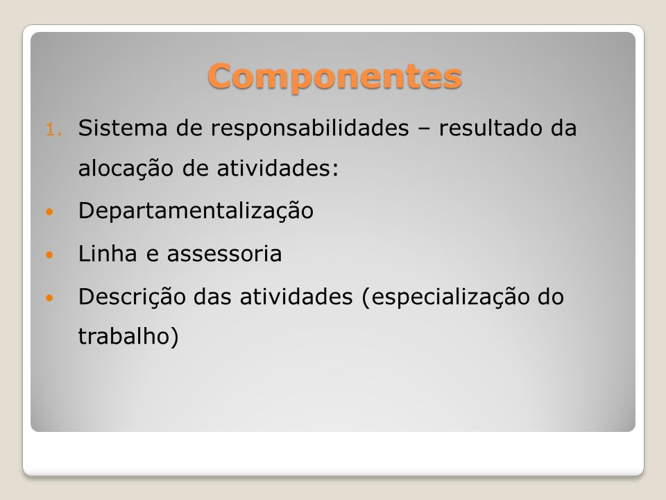 Componentes 1.