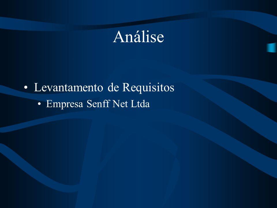 Levantamento de Requisitos Empresa Senff Net Ltda Análise