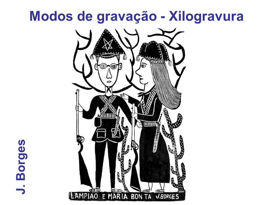 J. Borges Modos de gravação - Xilogravura