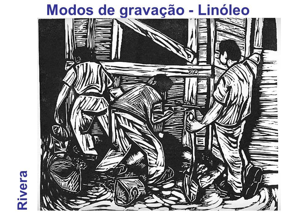 Modos de gravação - Linóleo Rivera